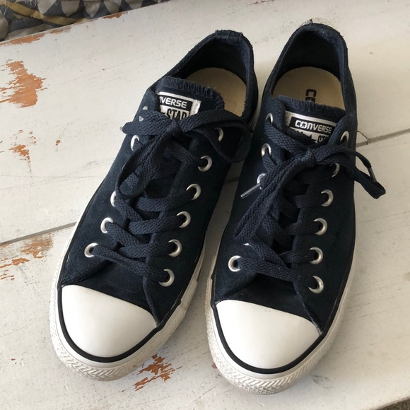 Converse Shoes | Navy Blue Soft Leather